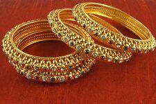 Bollywood Gold Plated Bridal Bangles Bracelet Kada Set Indian Fashion Jewelry