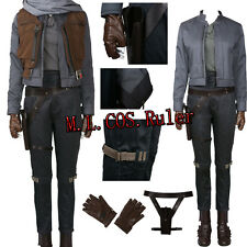 Latest Rogue One Jyn Erso Cosplay Costune Full Suit Hallowmas All Size