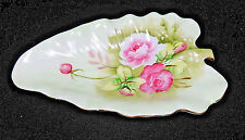 LEFTON China Hand Painted Floral Leaf Dish ed. 1860