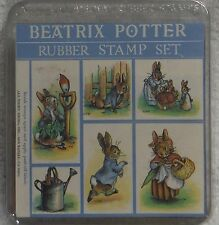 Rare HTF All Night Media BEATRIX POTTER PETER RABBIT Rubber Stamps - Set of 6