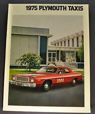 1975 Plymouth Taxi Cab Catalog Brochure Gran Fury Valiant Excellent Original 75