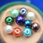 100pcs mixed color Round Glass Pearl loose Spacer Beads 8mm