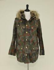 MEN'S J.CREW HOODED MILITARY PARKA COAT S ARMY GREEN CAMOUFLAGE SMALL - SAMPLE