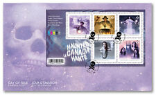 CANADA 2016 HAUNTED CANADA SOUVENIR SHEET FIRST DAY COVER