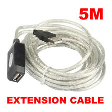 16FT 5M Active USB 2.0 Extension Cable Repeater For Laptop PC Computer New C#P5