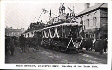 Christchurch. High Street. Opening of the Tram Line.