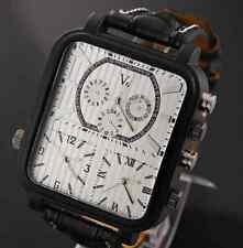 Russia unique mens watch Army Military Men's Wrist Watch 3 time Analog Leather