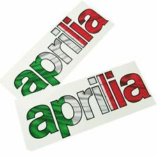 Aprilia Italian flag text Motorcycle graphics stickers decals x 2PCS SMALL SIZE
