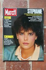 Paris Match N°1930 Stephanie,Tchernobyl Tazieff 1986