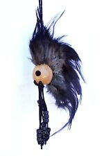 "1"" Kamani Nut Ikaika Hawaiian Hawaii Warrior Helmet Car Decor ~ Black"