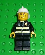 LEGO Minifigure - CTY043 - Fire - Reflective Stripes, Cheek Lines
