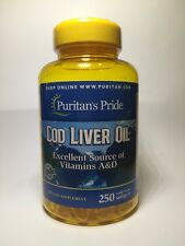 COD LIVER OIL 415MG EYE IMMUNITY IMMUNE BONE HEALTH PURE NORWEGIAN 250 SOFTGELS