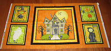 JEEPERS CREEPERS HAUINTED HOUSE 100% cotton fabric Panel HALLOWEEN Ghost Witch