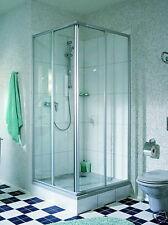 Duschkabine Eckeinstieg 70x90, 75x90, 80x90, Höhe185cm   silber oder weiß
