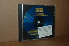 BEN HARPER: GOLD TO ME; 1995 PROMO ONLY LIKE NEW CD SINGLE W/ 2 RARE LIVE SONGS