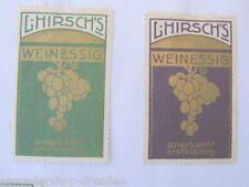 3 Reklamemarken für L. Hirsch's Weinessig anerkannt erstklassig gleiche Motiv