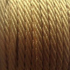 5MM BERISFORDS BARLEY TWIST ROPE /CORD x 4M -CHOOSE YOUR COLOUR