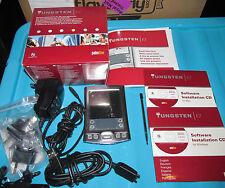 Palm tungsten E2 pda coffret avec accessoires et logiciels