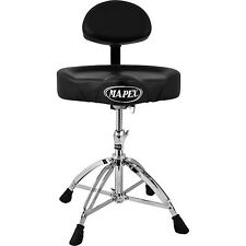 Mapex Saddle Top Drum Throne with Back Rest and with 4 Legs Double Braced - T775