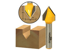 "V Groove Router Bit - Angle: 60�, Diameter: 1/2"" - 1/4"" Shank - Yonico 14993q"