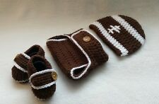 Newborn Baby Boy Football Hat, Diaper cover & Booties! Crochet Photo Prop GIFT!!