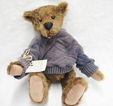 Hand Made Artist Bear German Mohair Jointed Antique Shoe Button Eyes Sweater