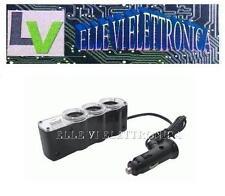 05210 Presa Auto Multipla Da 1 A 3 Accendisigari  E 1 USB Per 12 V 24 V 5 V