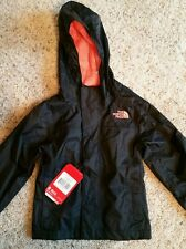 NWT THE NORTH FACE girls ZIPLINE RAIN JACKET Black & Sugary Pink  SZ. XXS (5)