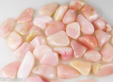 1 Peru PINK OPAL Tumbled HEALING Crystal Stone with pouch Small 2-4 g