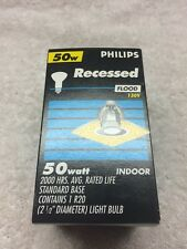 50 Watt Recessed Indoor Flood Lamp Philips 130V R20 Reflector Bulb