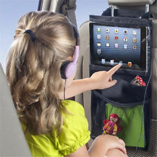 Storage Bag Car Seat Back Tablet PC Cover For Child Watch Pad Travel Organizer