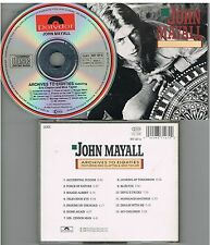 John Mayall ‎– Archives To Eighties Featuring Eric Clapton And Mick Tayl CD 1988