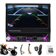"Single 1DIN 7"" Touch Screen Car DVD Player MP3 Bluetooth GPS Navigation+Camera"