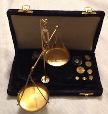 ***Vintage Small Weight Brass Balance Scale Art Decorative Collectible NICE