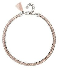 New Victorious Neck Choker Mimco Necklace Blush Pink Silver  + Dust Bag