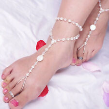 Beach Ankle Foot Jewelry Barefoot Pearl Anklet Chain Sandal Bridal Bracelet