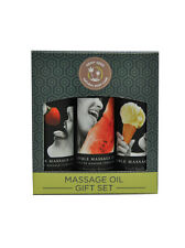 Earthly Body 100% Natural Edible Massage Oil Gift Set - Contains 3 x 60ml Oils