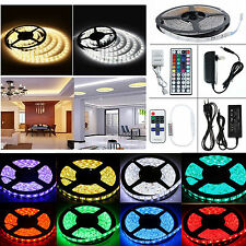 1M-20M SMD IC/5050 RGB RGBW Flexible Strip String Light DC12V 24V (Remote+Power)