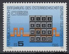 Österreich Austria 1986 ** Mi.1838 Telefon Tastatur Kommunikation Communication
