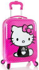 Heys America Luggage Hello Kitty 3D Spinner Carry On 4 Wheeled - Pink