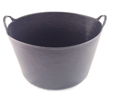 Large 55L BLACK Flexi Tub Bucket Container Trug Garden Toy Storage Tubs Buckets