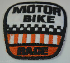 MOTOR BIKE RACE EMBROIDERED SEW IRON ON  PATCH BADGE MOTORBIKE OVERALLS