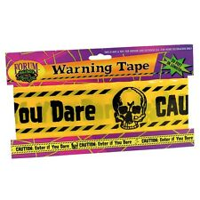 WARNING TAPE CRIME SCENE DANGER 20ft LONG FANCY HALLOWEEN PARTY PROP
