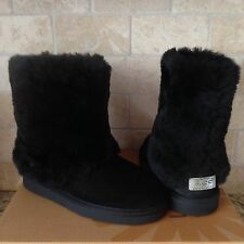 UGG PATTEN BLACK WATER-RESISTANT SUEDE SHEEPSKIN BOOTS US 5 WOMENS fits Youth 3