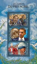 Central Africa 2015 Nobel Prize Peace Martin Luther Teresa Obama Pope  S/S 308