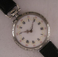 Early C.CRETTIEZ '1890 ALL ORIGINAL French Gent's Wrist Watch Perfect Serviced