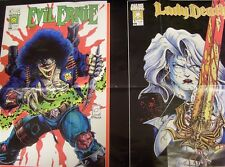 EVIL ERNIE LADY DEATH DEALERS MONTHLY COMIC PROMO POSTER 1994 FOLDED 24 X 18