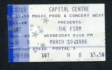 Original 1986 The Firm concert ticket stub Jimmy Page Led Zeppelin Radioactive