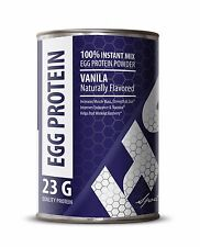 Egg White Protein 340g Powder. Muscle Building, Non Dairy, Vanilla (1 Can)