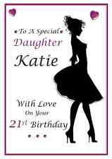 personalised A5 birthday card daughter niece granddaughter sister auntie name